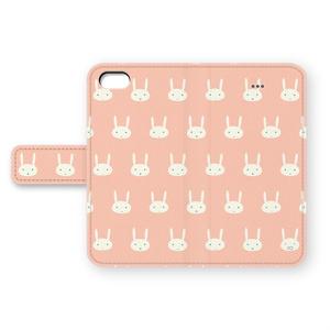 うさぎのiPhoneカバー(ピンク)