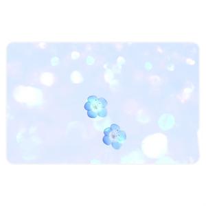 青いネモフィラ ICカードステッカー