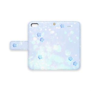 青いネモフィラ 手帳型 スマホケース