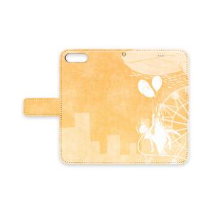 手帳型iPhoneケース(橙に溺れる)