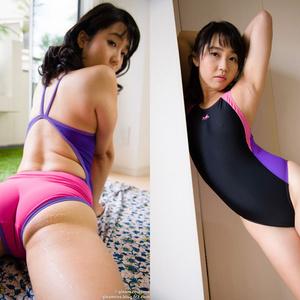 競泳水着の彼女のブラマンジェ 天海はるか
