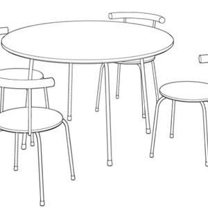 【3D素材】カフェテーブルと椅子