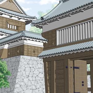 【3D素材】やぐら門(クリスタ用)