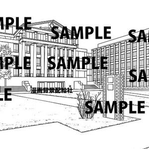 漫画背景素材「大学の校舎&キャンパス」
