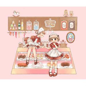ポストカード(お菓子屋さん)