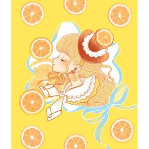 ポストカード(オレンジ)