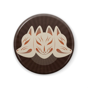缶バッジ57mm[狐面0]