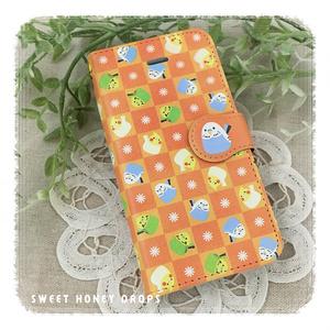 iPhone5・5s・SE対応手帳ケース*インコトリオ*