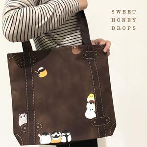 鳥のトランクトートバッグ