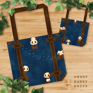 パムダのトランクトートバッグ(パンダ)