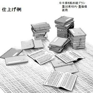 コミスタ・クリスタ用3D素材_和風小物セット・室内01