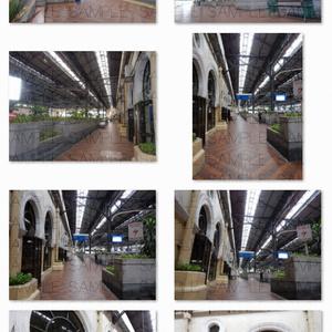 写真素材_英国アラブ風・鉄道駅
