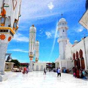 白亜のモスク広場・写真素材集