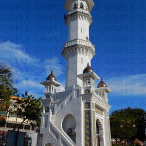 オレンジ屋根のモスク・写真素材集