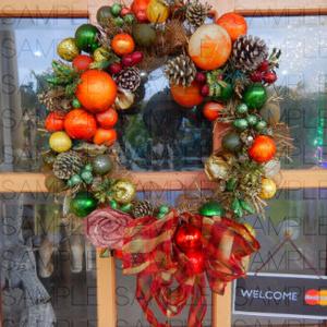 クリスマスの館:写真素材