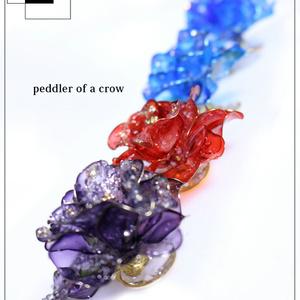 (大)凍金華・薔薇 赤・黒紫・青/各1