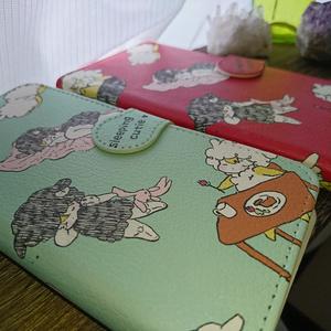 おねむ羊ちゃんの手帳型スマホケース【緑】