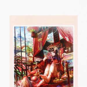 ポストカード◆K「東洋の極彩少女」
