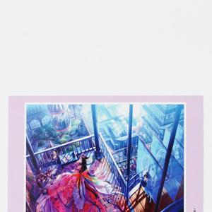 ポストカード◆M「籠の七蝶」