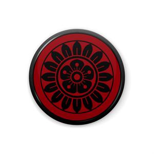 イーピン缶バッジ(黒×赤)