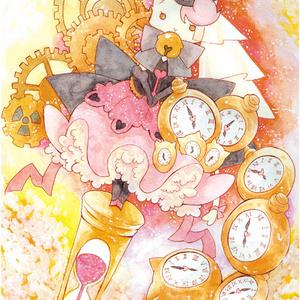 ポスカ絵本【時計猫の廻転迷宮】