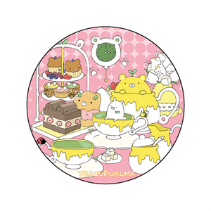 缶バッチ【ティーカップクマ】