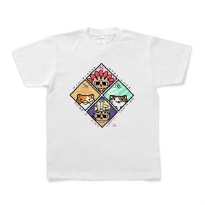 まぬかま『花鳥風月』Tシャツ