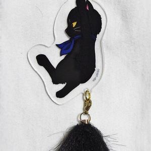 猫桂 尻尾つきアクリルキーホルダー