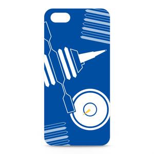 シャープマーカーデザインケース ブルー