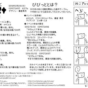 【2014冬コミティア】無配ペーパー