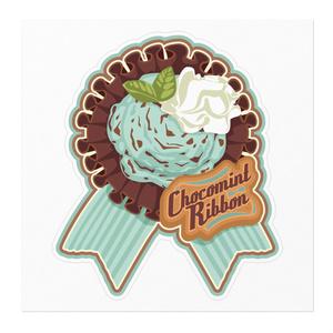CHOCOMINT*RIBBONアイスクリームステッカー