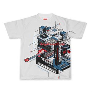 ドット絵 DTM機材 フルグラTシャツ Ongaku no Kizai