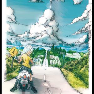 ポストカード『夏の入り口』(北海道美瑛)