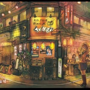 ポストカード『街角で』(大阪・心斎橋)