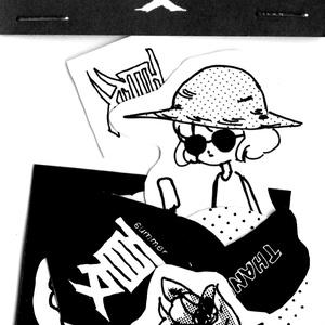 夏シール(くろ)
