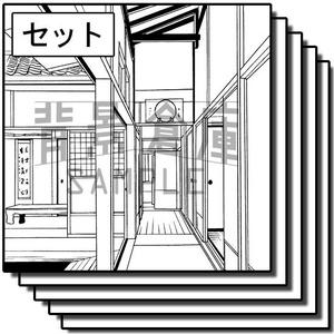 和風の背景_セット11(室内)