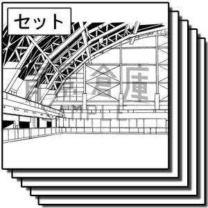 アミューズメント施設の背景_セット1(スケート場)