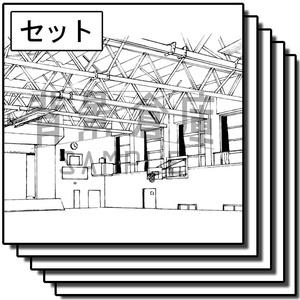 学校の背景_セット17(体育館)