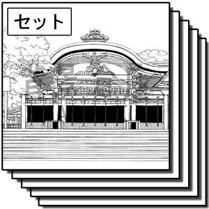 神社の背景_セット2(外観)