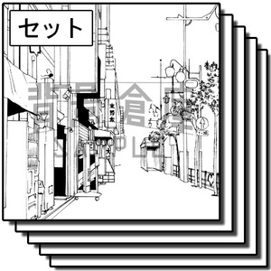 住宅の背景_セット13(街並)