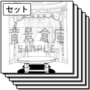 西洋風の背景_セット3(室内)