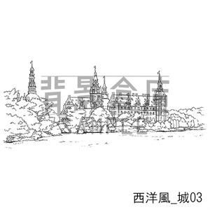 西洋風の背景_セット4(城)