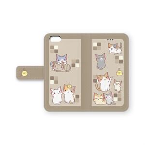 iPhone6/6s手帳ケース(茶)