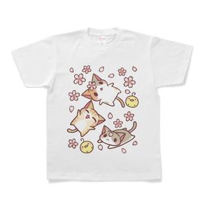 ねこTシャツ(桜)