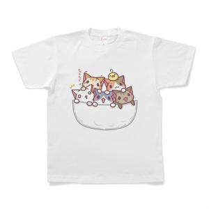 ねこTシャツ(ポケット)