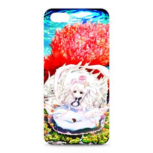 珊瑚と少女のiPhoneカバー