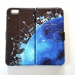 地球の街 iPhoneケース手帳型