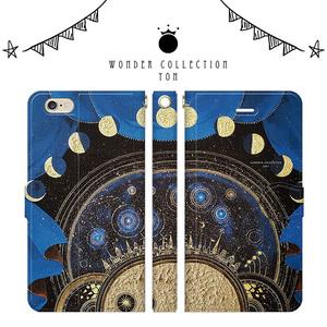 満月の街 iPhoneケース手帳型