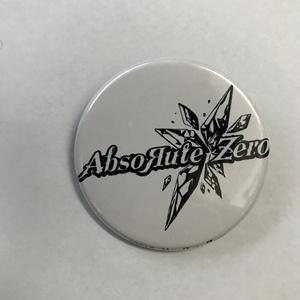 AbsoЯute Zeroロゴ缶バッチ 白