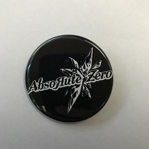 AbsoЯute Zeroロゴ缶バッチ 黒